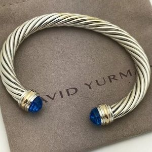 David Yurman 7mm Blue Topaz Bracelet